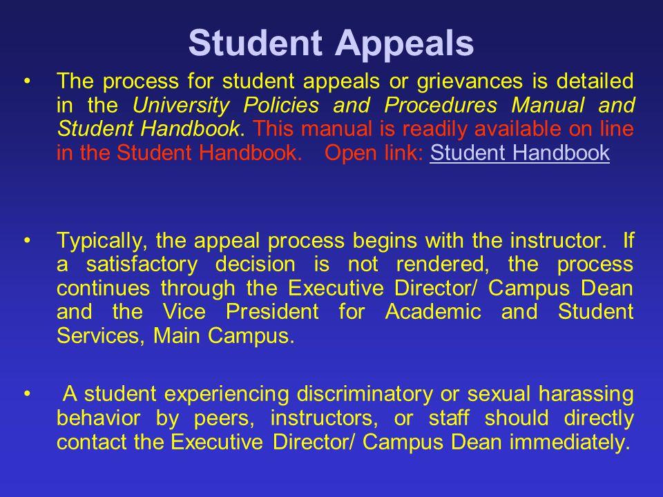 Student Appeals