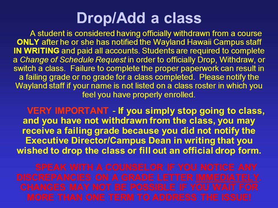 Drop/Add a class