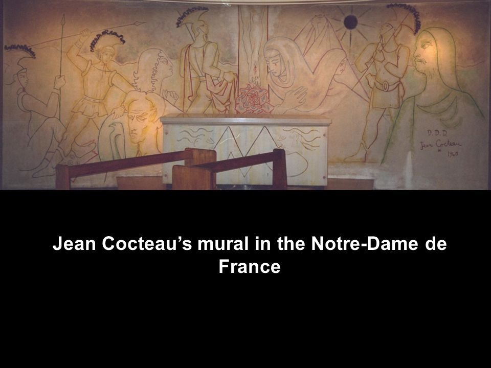 Jean Cocteau's mural in the Notre-Dame de France