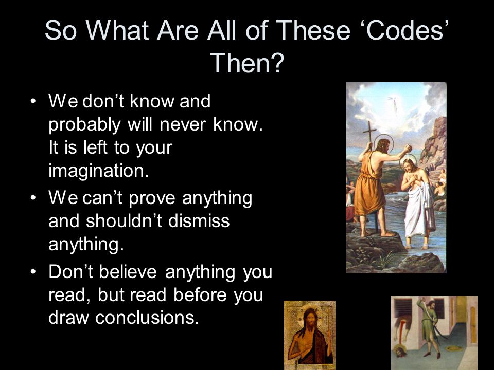 So What Are All of These 'Codes' Then