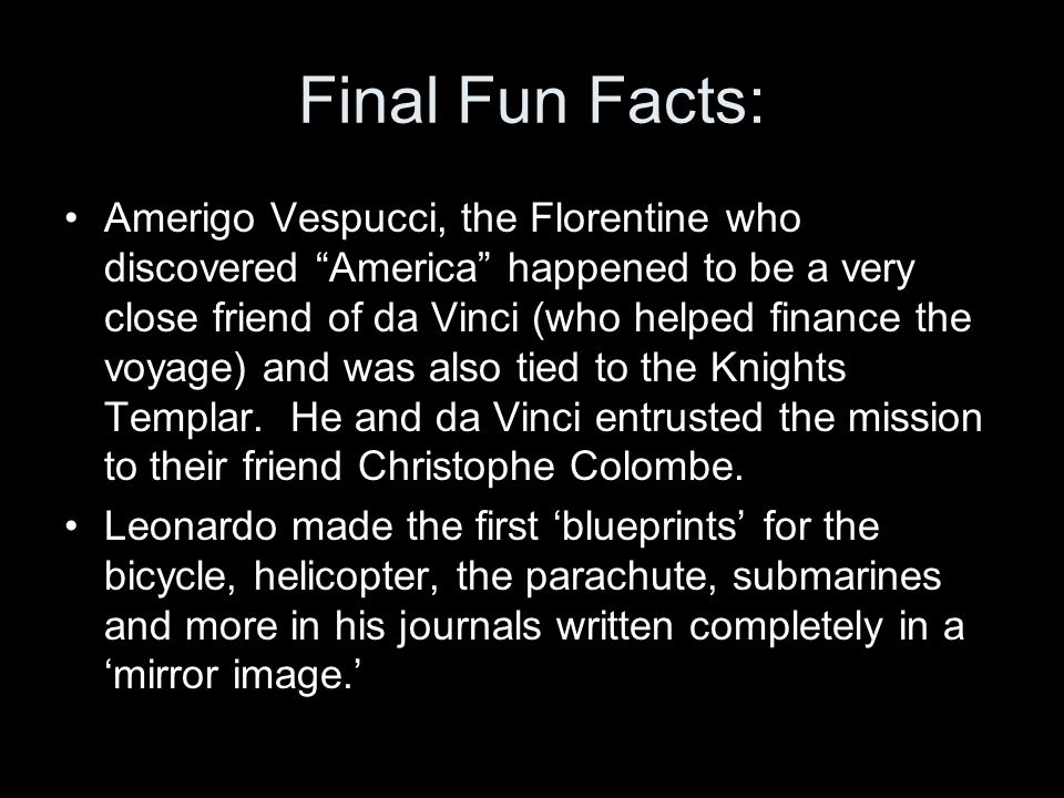 Final Fun Facts: