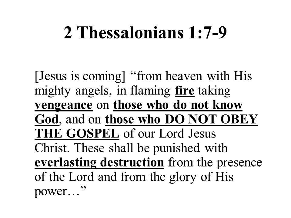 2 Thessalonians 1:7-9