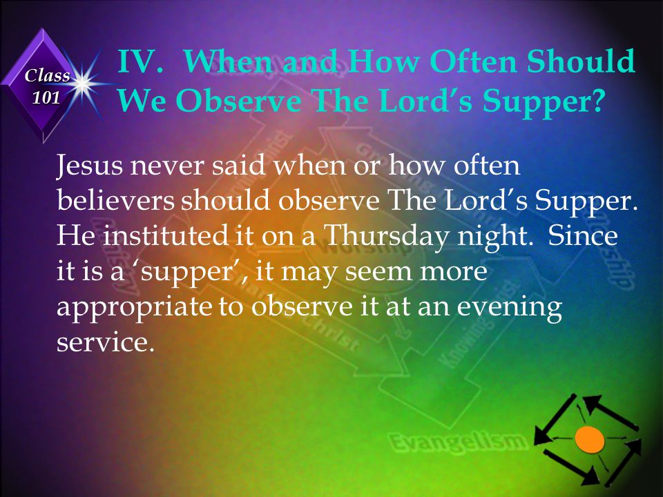 IV. When and How Often Should We Observe The Lord's Supper