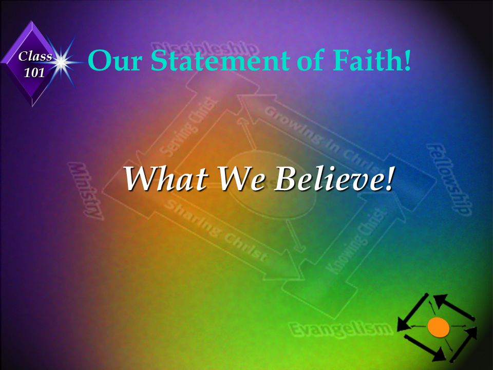 Our Statement of Faith! What We Believe!