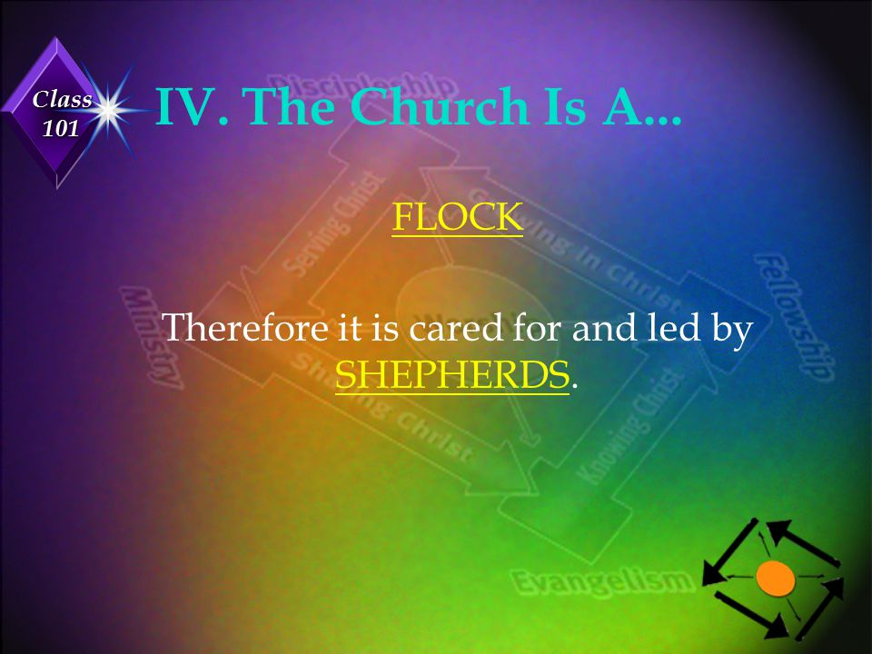 Therefore it is cared for and led by SHEPHERDS.