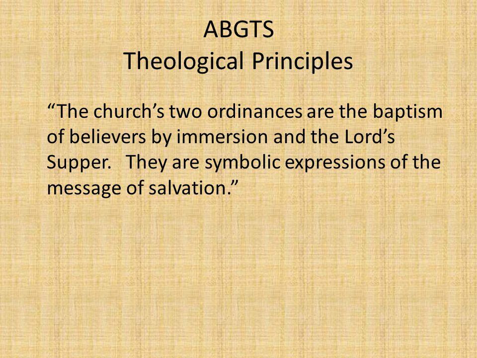 ABGTS Theological Principles
