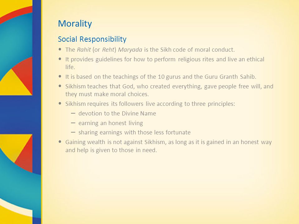 Morality Social Responsibility