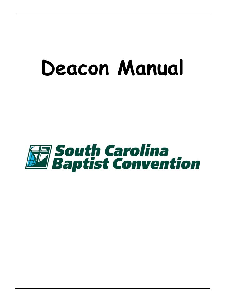 Deacon Manual