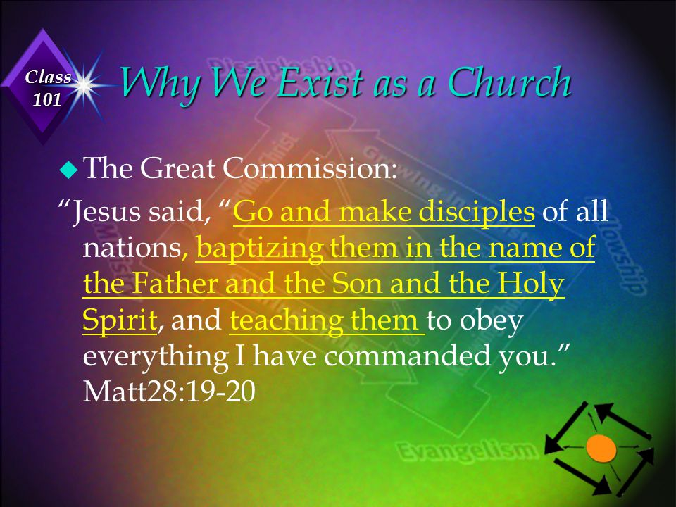 Why We Exist as a Church The Great Commission:
