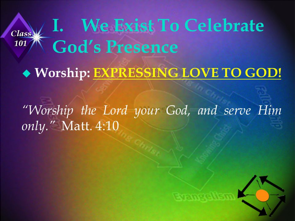 I. We Exist To Celebrate God's Presence