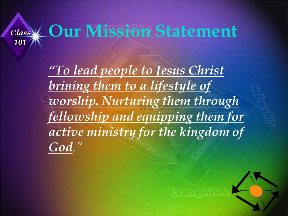 Our Mission Statement To lead people to Jesus Christ brining them to a lifestyle of worship.