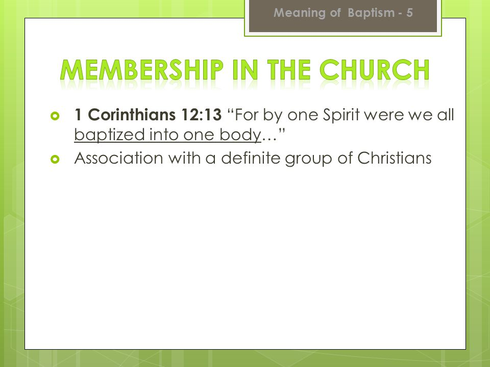 Membership in the Church