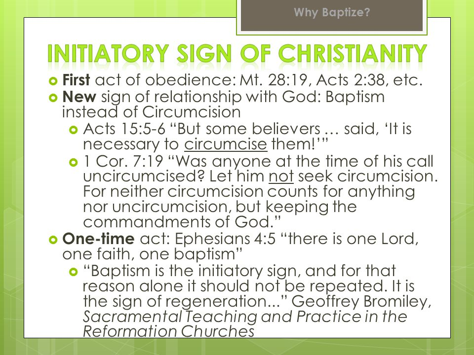 Initiatory Sign of Christianity