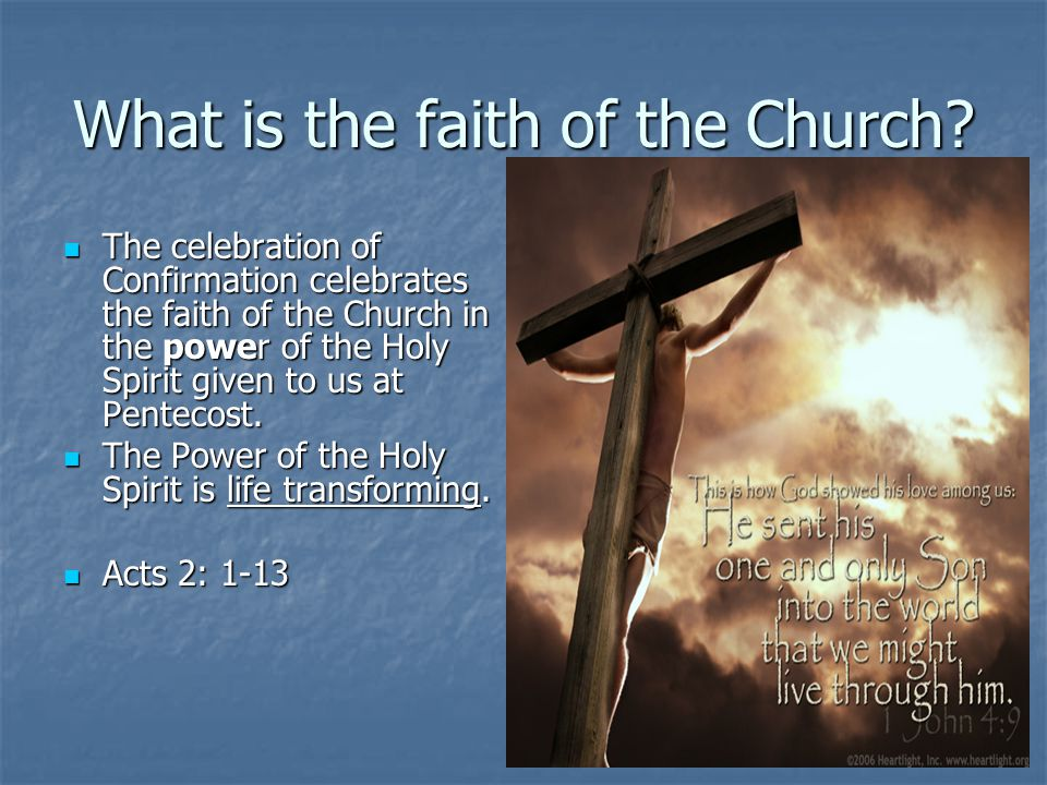 What is the faith of the Church