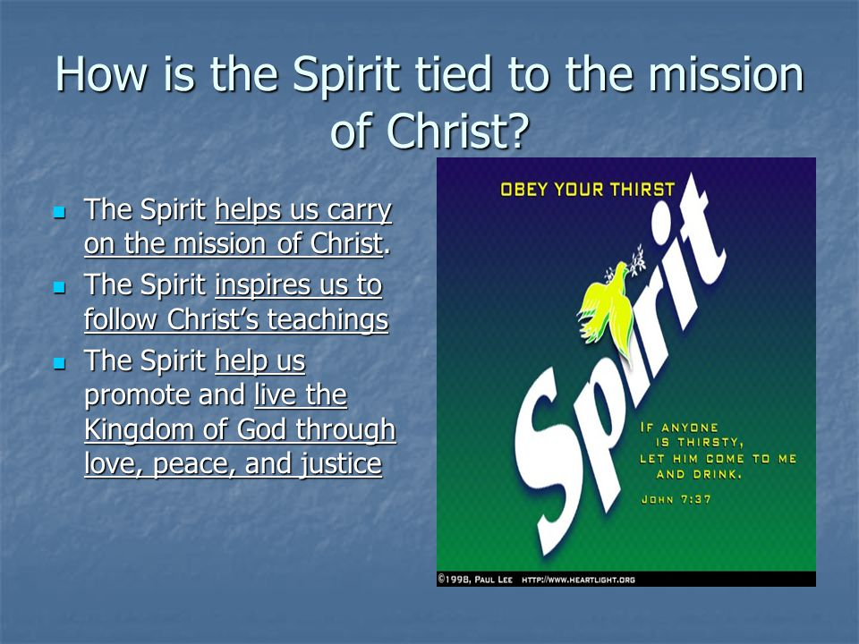 How is the Spirit tied to the mission of Christ