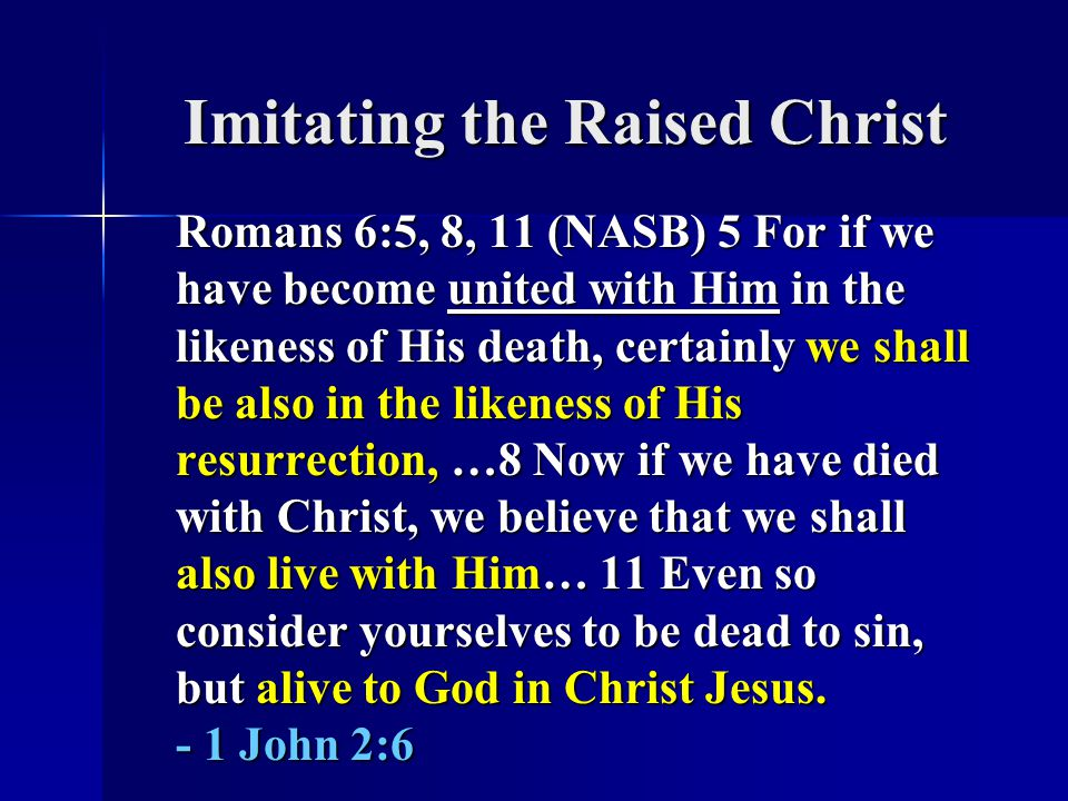 Imitating the Raised Christ