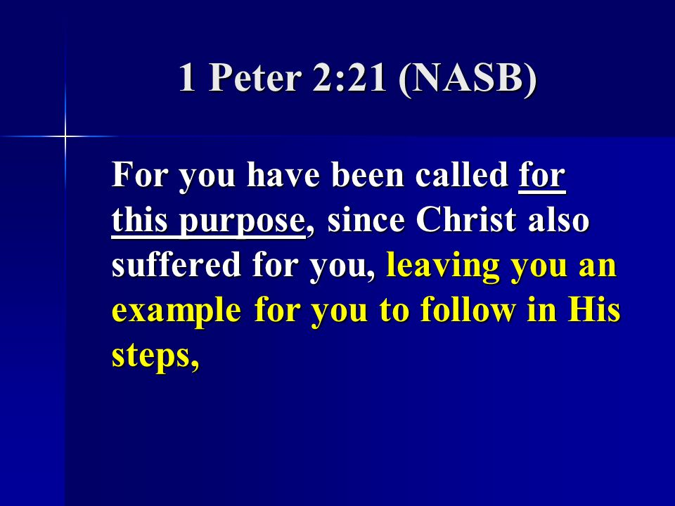 1 Peter 2:21 (NASB)
