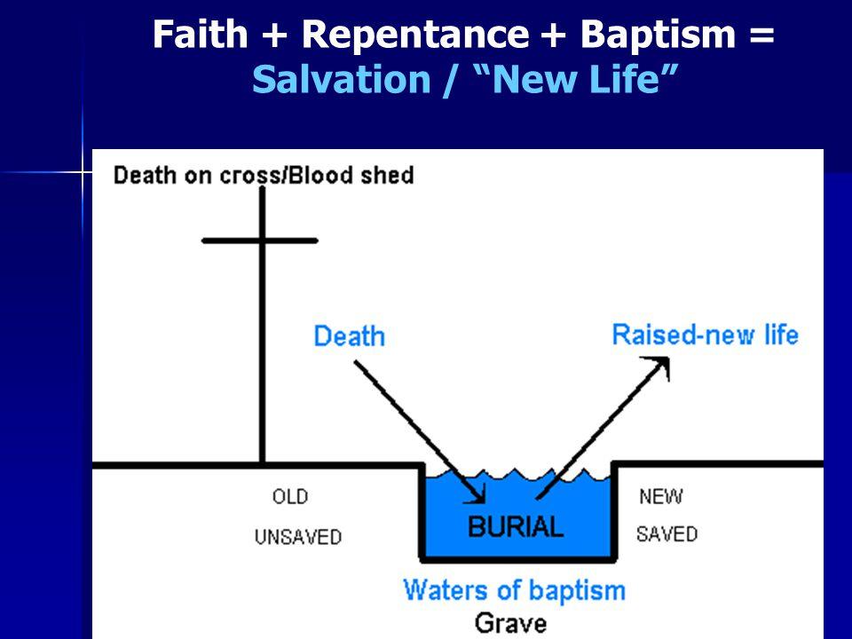 Faith + Repentance + Baptism = Salvation / New Life