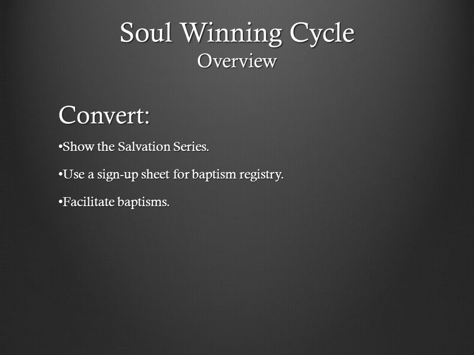 Soul Winning Cycle Overview