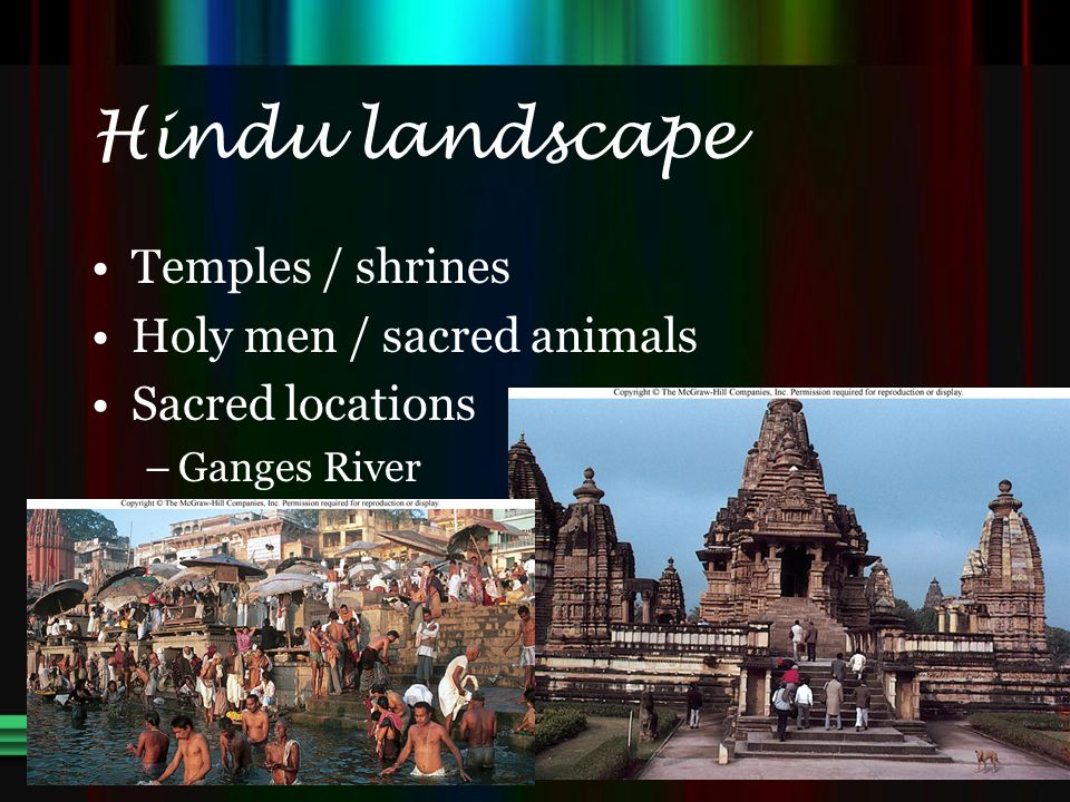 Hindu landscape Temples / shrines Holy men / sacred animals
