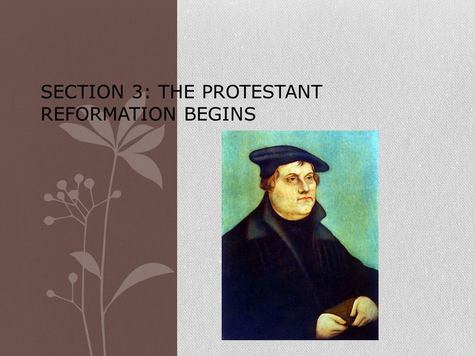 Section 3: The Protestant Reformation Begins