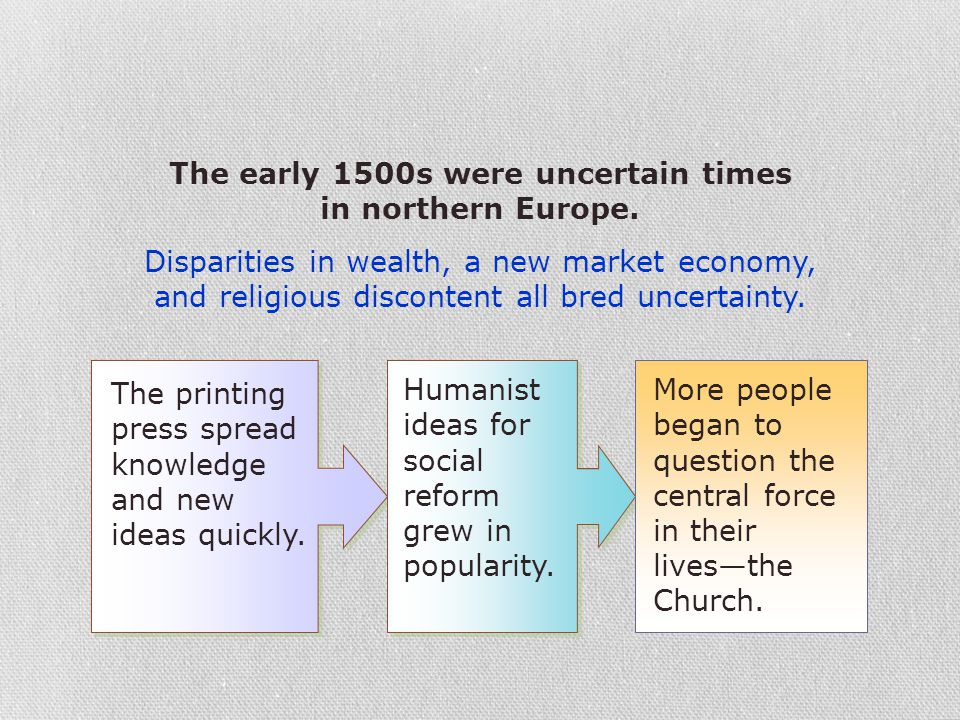 The early 1500s were uncertain times in northern Europe.