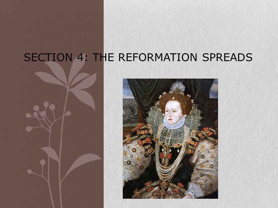 Section 4: The Reformation Spreads