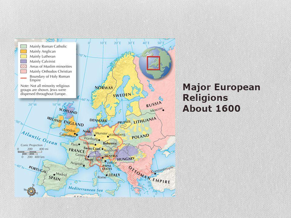 Major European Religions About 1600