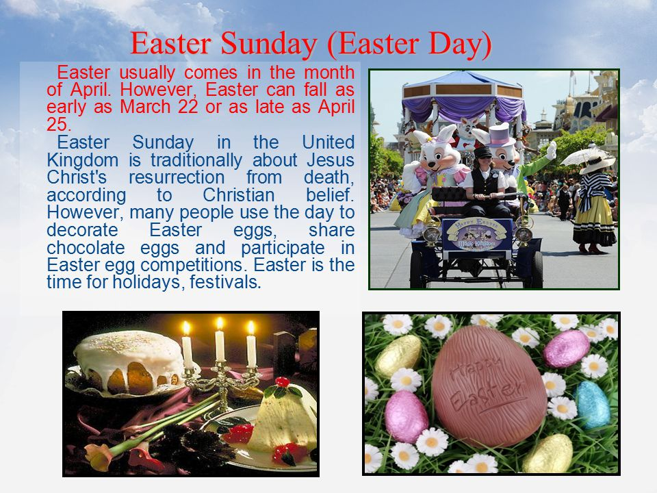 Easter Sunday (Easter Day)