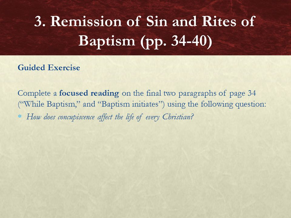 3. Remission of Sin and Rites of Baptism (pp. 34-40)