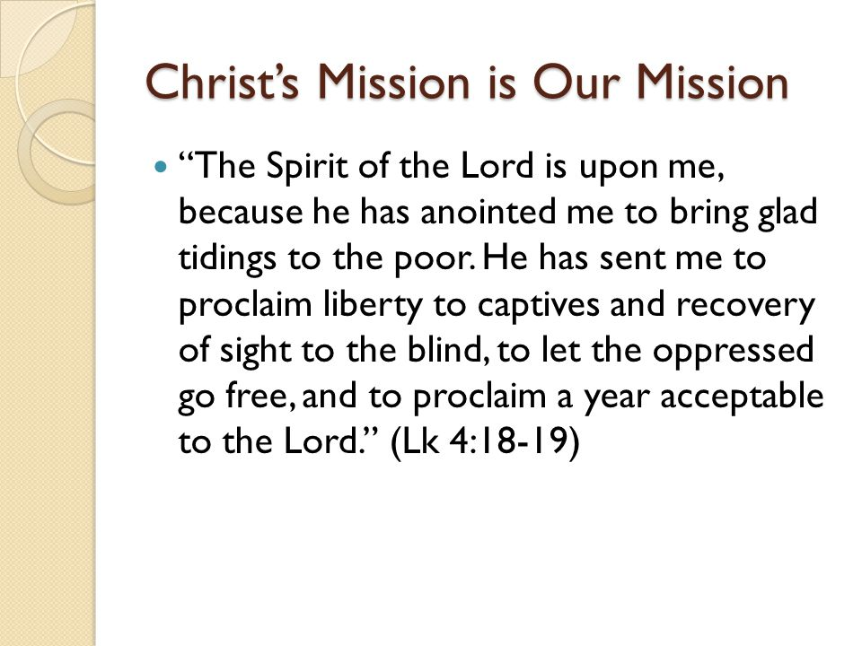 Christ's Mission is Our Mission