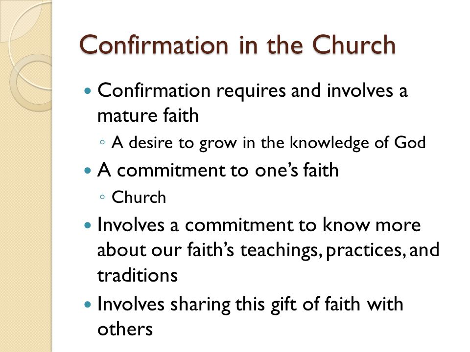 Confirmation in the Church