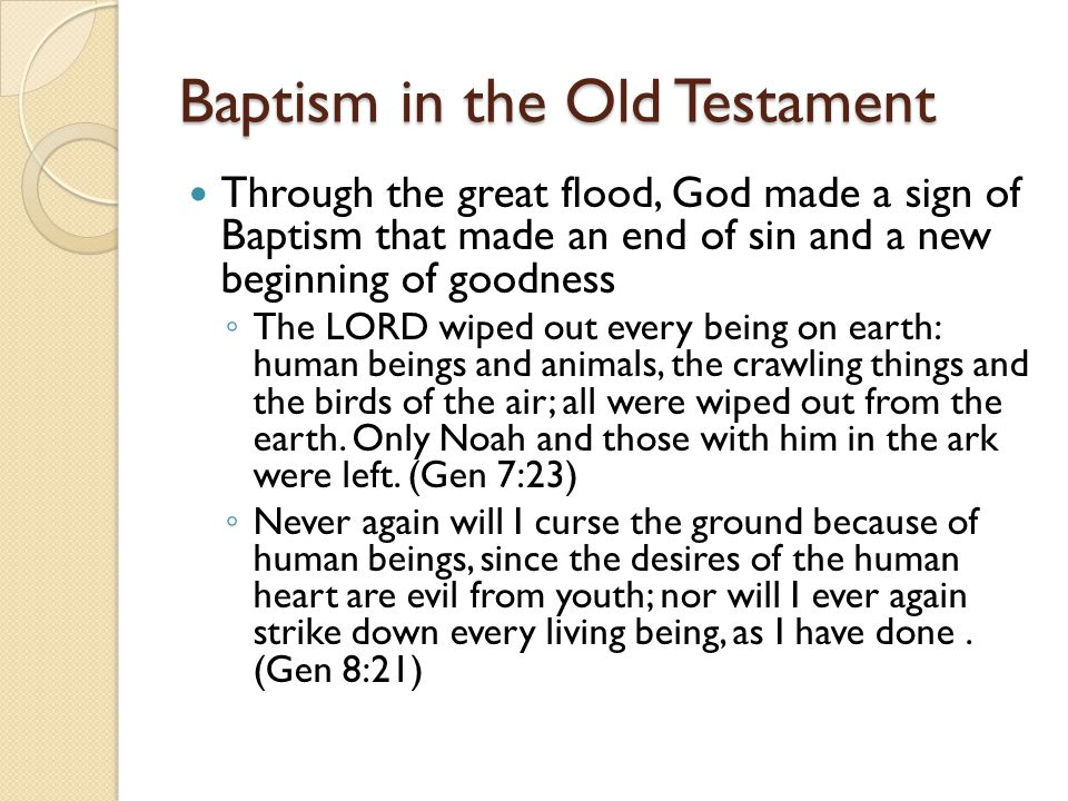 Baptism in the Old Testament