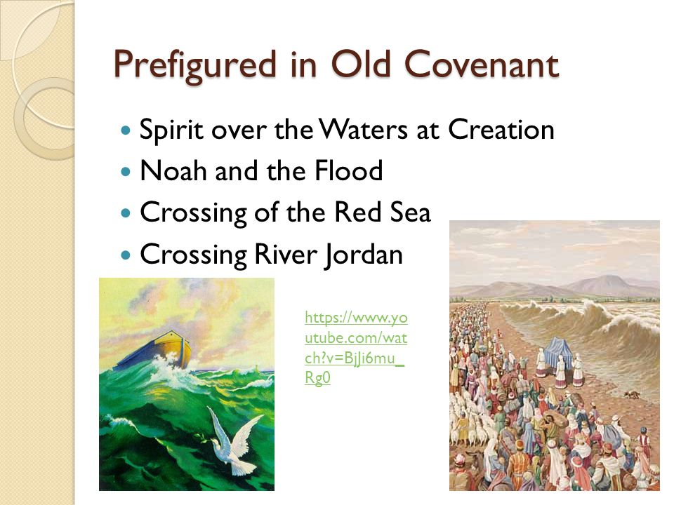 Prefigured in Old Covenant