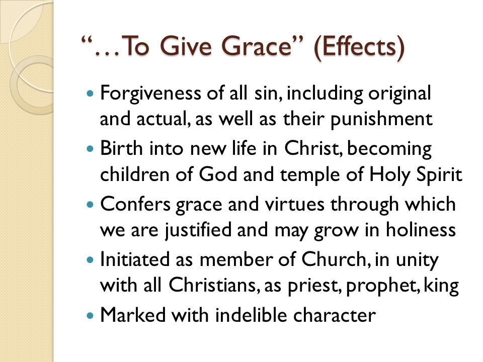…To Give Grace (Effects)