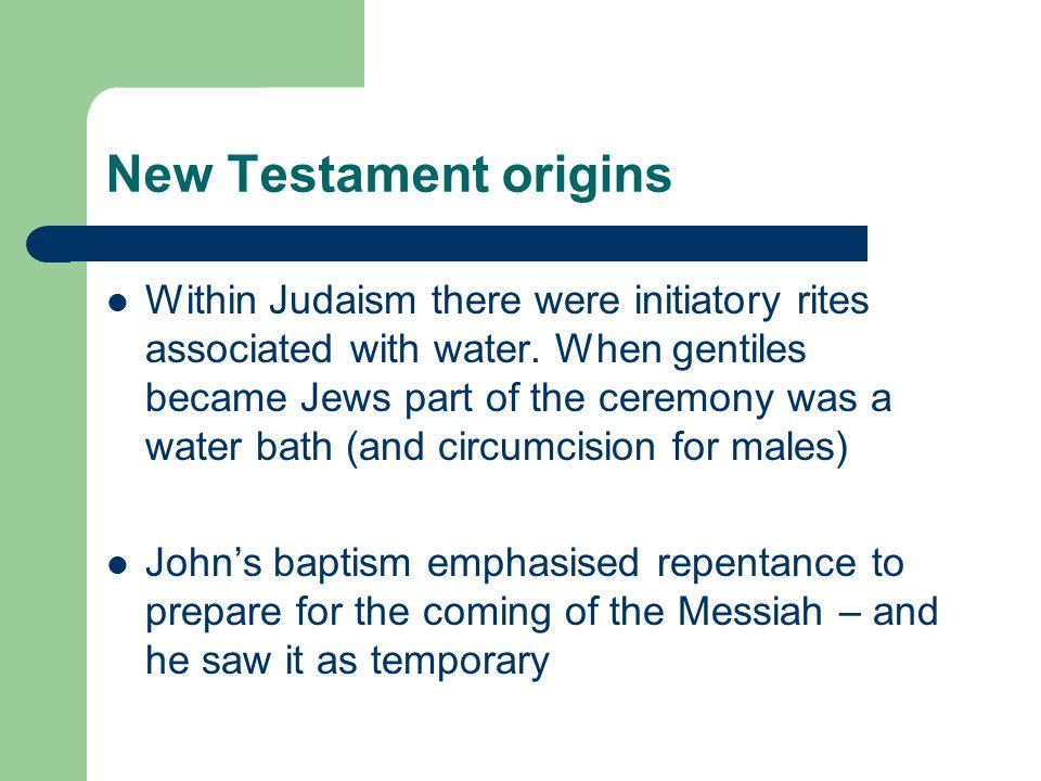 New Testament origins