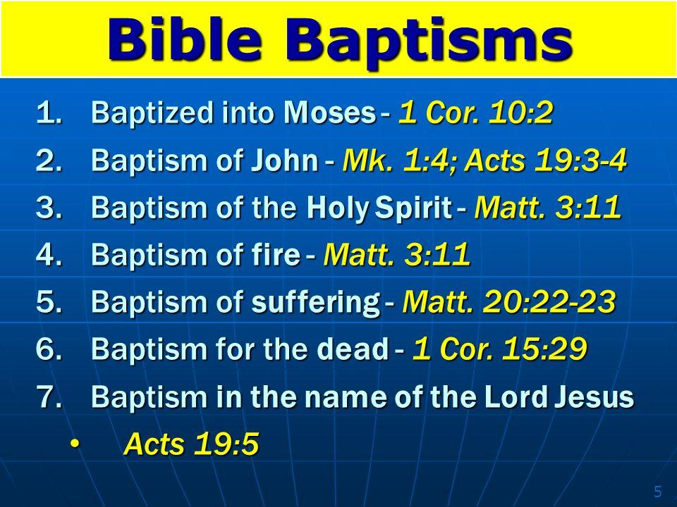 Bible Baptisms Baptized into Moses - 1 Cor. 10:2