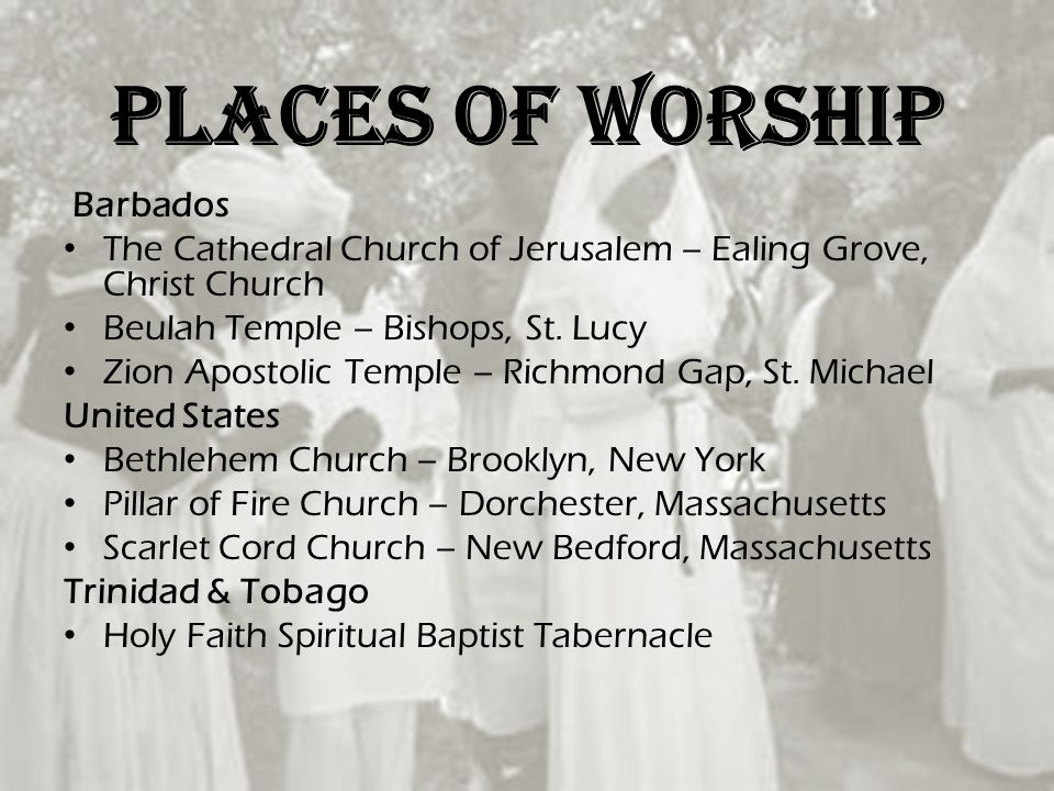 Places of worship Barbados
