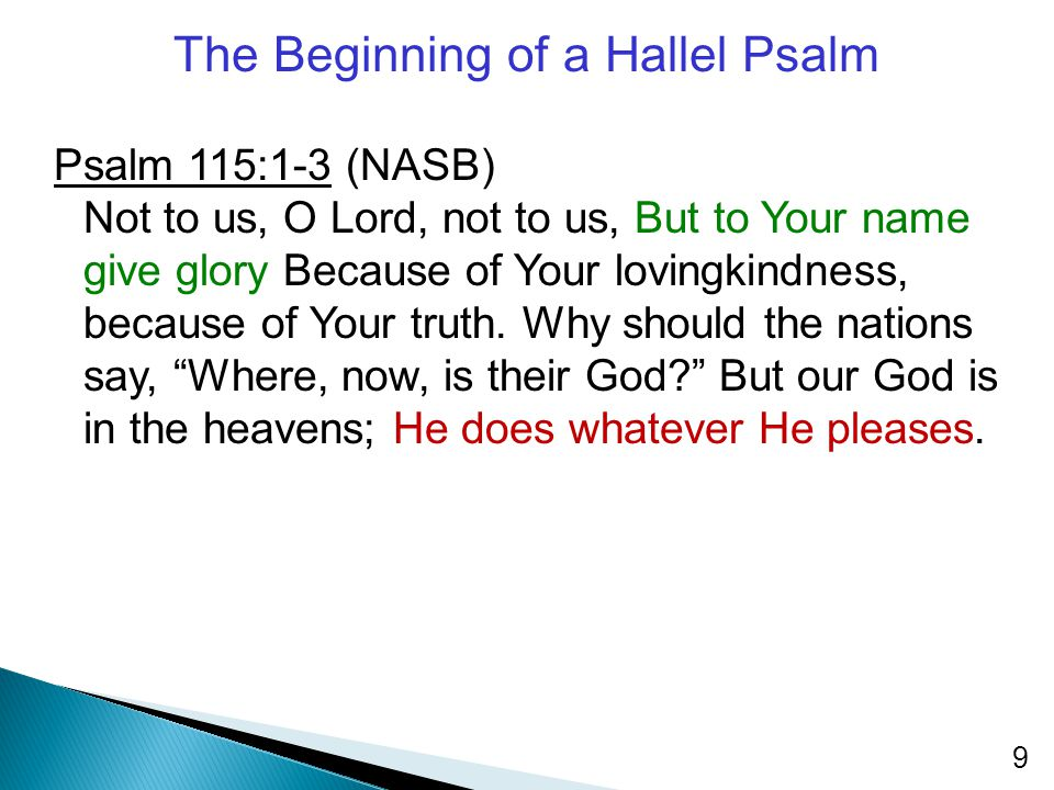 The Beginning of a Hallel Psalm