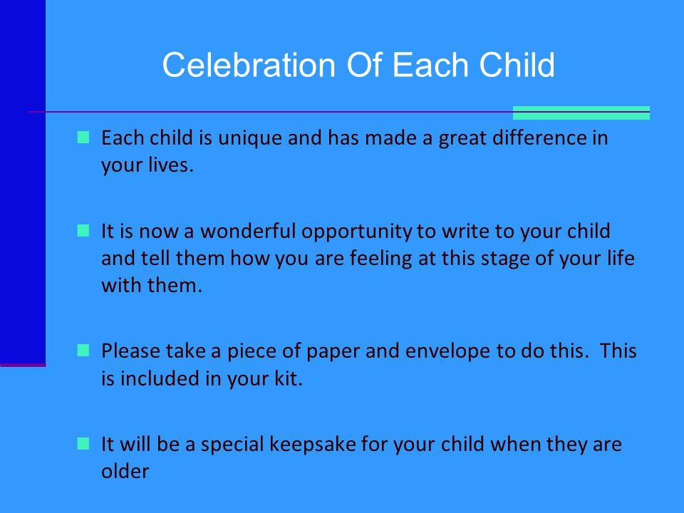 Celebration Of Each Child