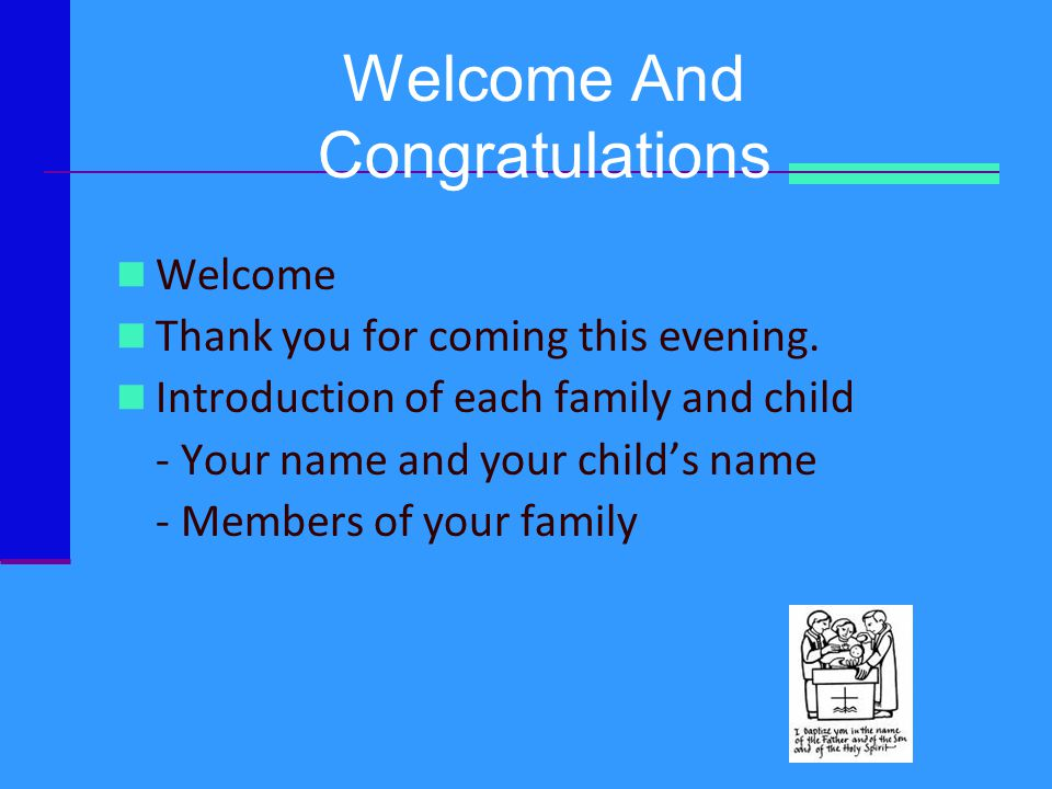 Welcome And Congratulations