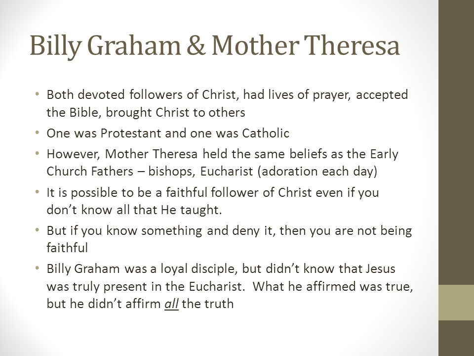 Billy Graham & Mother Theresa