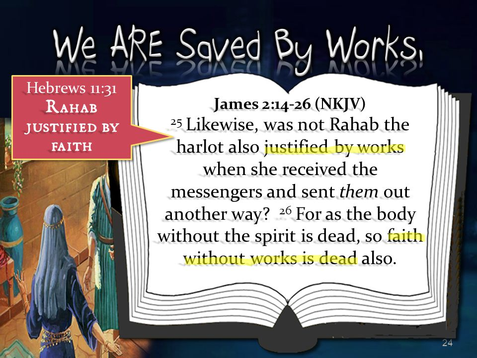 Rahab justified by faith