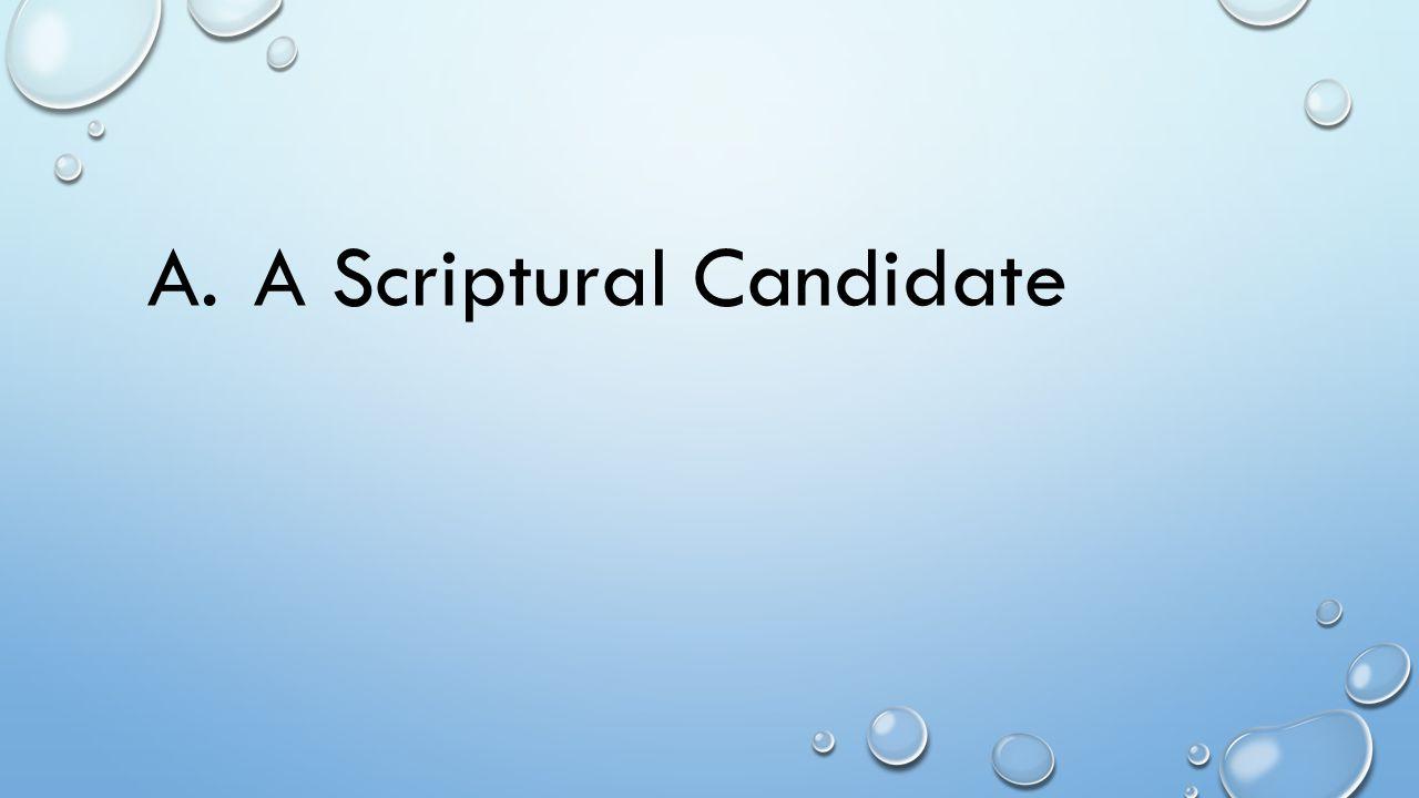 A. A Scriptural Candidate