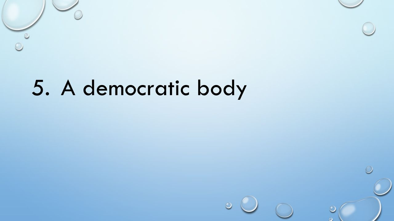5. A democratic body