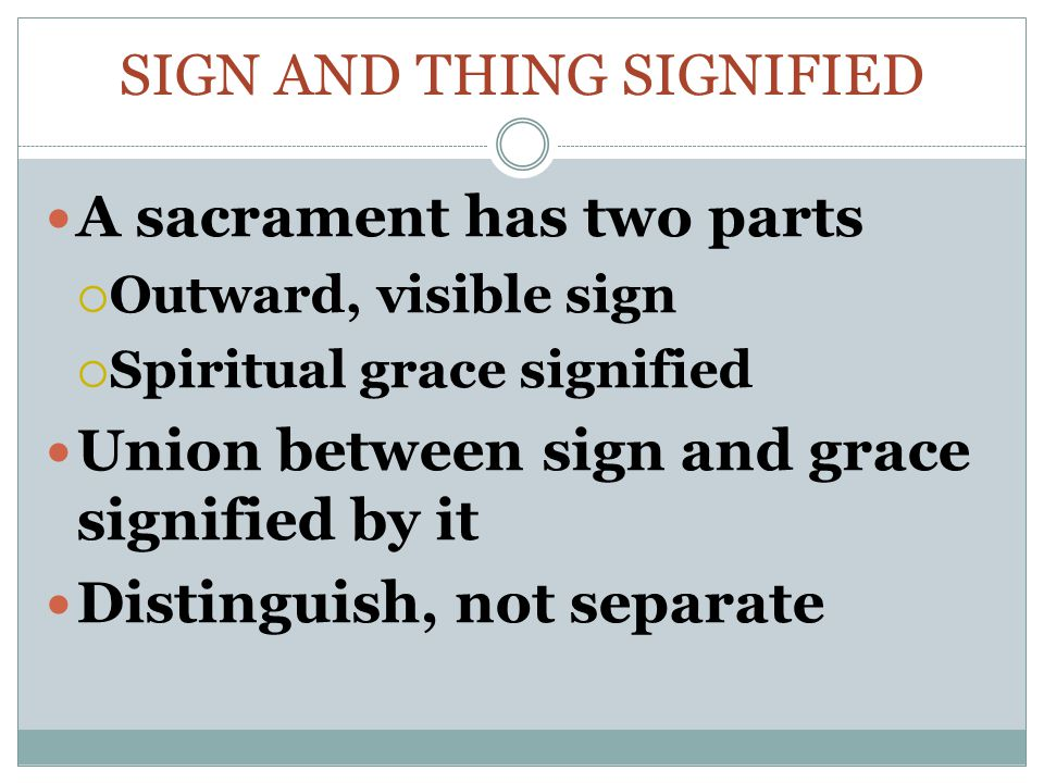 Sign and thing signified