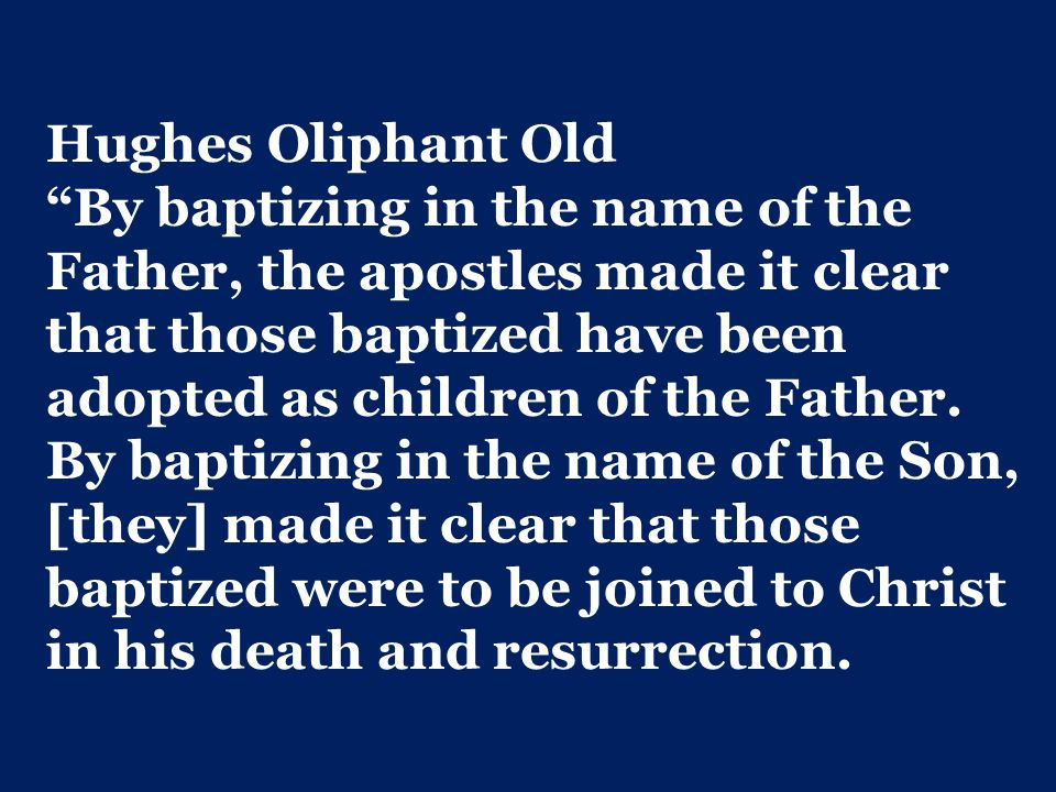 Hughes Oliphant Old