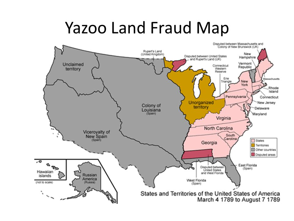 Yazoo Land Fraud Map