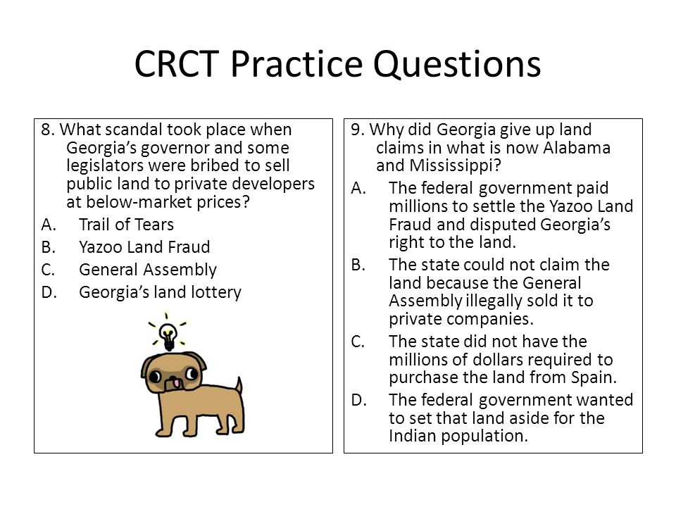 CRCT Practice Questions