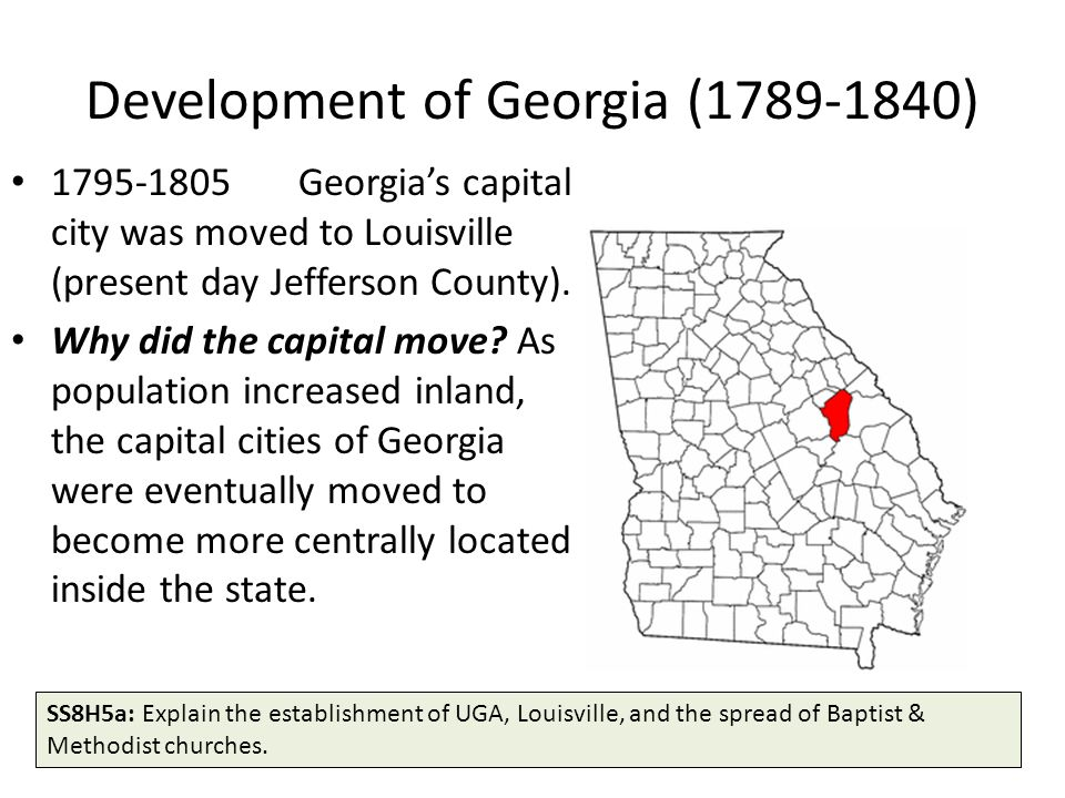 Development of Georgia (1789-1840)